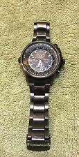 Seiko SNAB69 Flight Master Alarm Chronograph Black Dial Pilot Aviator Watch 44