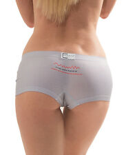 CROOTA Womens Boyshort Underwear, Seamless Low Rise Panty, size L