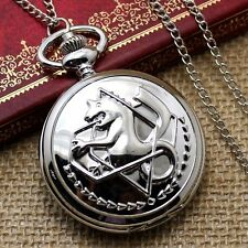 New Steampunk Fullmetal Alchemist Snake Style Pocket Watch Necklace Chain Gift