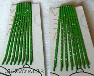 16 Pince à cheveux 45mm vert paillette barrette accessoire