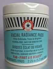 FIRST AID BEAUTY Facial Radiance Pads 60 Pads Full Size • New + Free Shipping