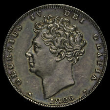 More details for 1826 george iv milled silver sixpence, a/unc