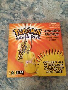 POKEMON Collectible Dog Tags Limited Edition SEARS Exclusive Set  1999