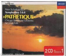 Tchaikovsky: Symphony (Sinfonie) No 5 & 6 ;  / Georg Solti, Chicago - CD Decca