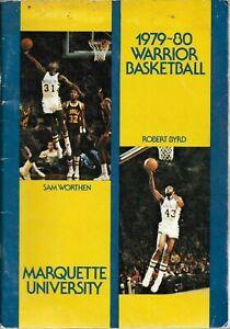 1979-80 MARQUETTE WARRIOR BASKETBALL (NCAA TOURNEY) media guide, ORIGINAL