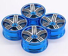 4 PCS 5 Frame Aluminum Alloy Wheel Rim FOR 1/10 RC On Road CAR 3MM OFFSET BLUE
