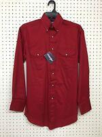 Wrangler ~ Men's ~ Red Western Basic Shirt