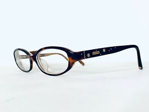Coach Oval Tortoise & Clear Frame w Swarovski Temple Glasses Cora 49 15 130