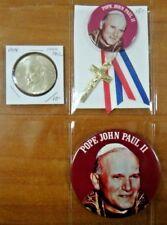 Pope John Paul II Catholic Religious Pin Pinback Button Medal Lot of 3