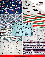 Printed Brushed Brush Flannel 100% Cotton, Christmas Print Design High Quality