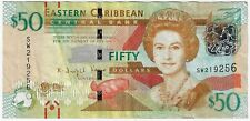 East Caribbean States 50 Dollars 2015 ND Issue Pick #54b Foreign World Banknote
