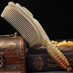 Yak Horn Comb Natural Authentic Head Therapy Hair Comb Antistatic Massage Brush