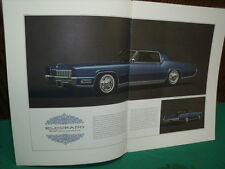 CADILLAC 1967  CATALOGUE PUBLICITAIRE COULEUR D ORIGINE n2