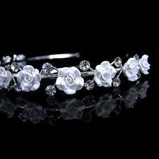 11 Keramik Blume Rose Bridal handgemachte Haarreif Krone Diademe Tiara