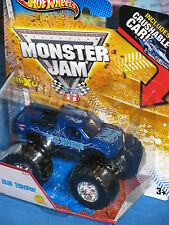 HOT WHEELS MONSTER JAM BLUE THUNDER 1st EDITIONS CRUSHABLE ADVANCE AUTO PARTS