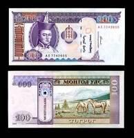 MONGOLIA 100 TUGRIK 2000 P 65 UNC LOT 10 PCS