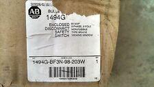 ALLEN BRADLEY 1494G-BF3N-98-203W ENCLOSED DISCONNECT SAFETY SWITCH NIB