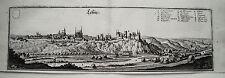 Leisnig  Sachsen Mulde seltener  Merian Kupferstich in der Erstausgabe 1650