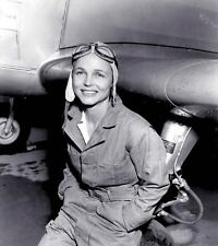 B&W WW2 Photo WWII Female Ferry Pilot USAAC US Army World War Two WAC Women