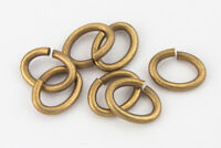 7mm x 5mm Antique Brass Tierracast Pewter Oval Jump Ring #RJE050