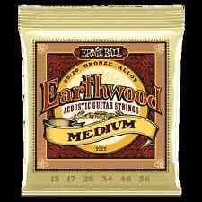Ernie Ball #2002 Earthwood Acoustic Guitar Strings Medium Gauge, 2 Sets