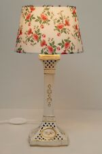 "Romantic Roses Lamp Ceramics NEW Umbrella "" Red Roses "" Table Lamp"