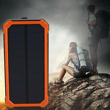 Waterproof 300000mAh Solar Panel Charger Dual USB Battery Power Bank Pro HOT BE