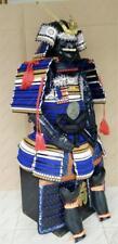 Rüstung Samurai Armure japonais Noué dentelles Black & Blue Dragon O23