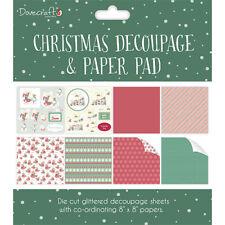 Dovecraft Christmas Decoupage & paper Pad ~ 8x8 decoupage sheets Green (rabbits)
