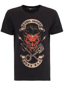 King Kerosin Devil Inside Born Bad T-Shirt Oldschool Rockabilly Biker Style Neu