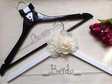 Set of 2 Personalized Bride Wedding Hanger,Name hanger,Bride hanger,Groom hanger