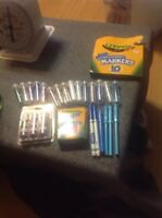 Lot Of Kid's Art Supplies Markers Glitter Crayons