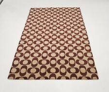 INDIAN HAND TUFTED, MODERN,GEOMETRIC RUG, 2.44 x 1.70M,BEIGE & BROWN