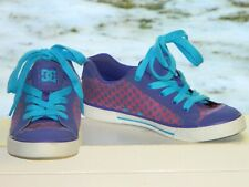 DC Shoes Rare Women's Girls Chelsea Skate Trainers Purple Laceup Size 7 Wide