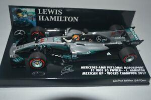 Minichamps 1/43rd Mercedes W08 Mexican GP 2017 World Champion Lewis Hamilton