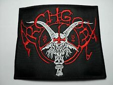 ARCHGOAT RED AND WHITE LOGO   EMBROIDERED PATCH