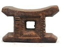 Arte Africano - Antico Sgabello IN Miniatura Akan Di Devin O Féticheur - 11 CMS