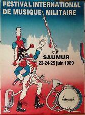AFFICHE FESTIVAL INTERNATIONAL DE MUSIQUE MILITAIRE SAUMUR JUIN 1989