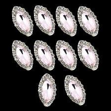 10x Pink 3d Alloy Rhinestones Nail Art Glitters Slice DIY Charm Decoration