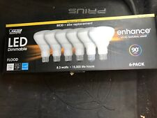 Feit Electric Dimmable Flood Light Bulbs Pack of 6 BR30 65W Replacements