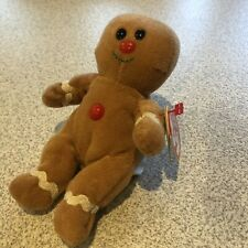 Ty Jingle Beanie Baby SWEETER the Gingerbread Man Christmas Ornament Plush RARE
