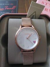 Fossil Laney Three-Hand Pastel Pink ❤ Stainless Steel Women's Mesh Watch Bq3594