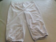ALLESON ATHLETIC ADULT XL WHITE BASEBALL PANT SNAPS ZIPPER BELT LOOPS NEW NO TAG