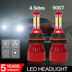 2X 9007 HB5 4side Hi/Lo Beam 300000LM LED Headlight Conversion Kit Bulbs 6500K