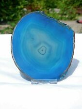 ASD107) Large Green Agate Crystal Slice Coaster Arts Crafts Gift Geode 5 inch