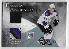 10/11 UD ARTIFACTS FROZEN ARTIFACTS BLUE JERSEY & PATCH Alexander Frolov #47/50