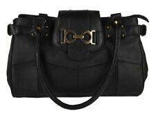 Lorenz Leather Top Zip Handbag with Decorated Top Tab