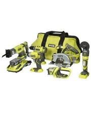 Ryobi One+ 18-Volt Lithium-Ion 6-Tool Ultimate Combo Kit - Green (P884)