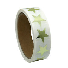 Gold Star Shape Paper Sticker Labels Packaging Seals Labels 500 Total Per Roll