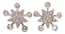 Swarovski Elements Crystal Lone Star Stud Earrings Rhodium Authentic New 7148y